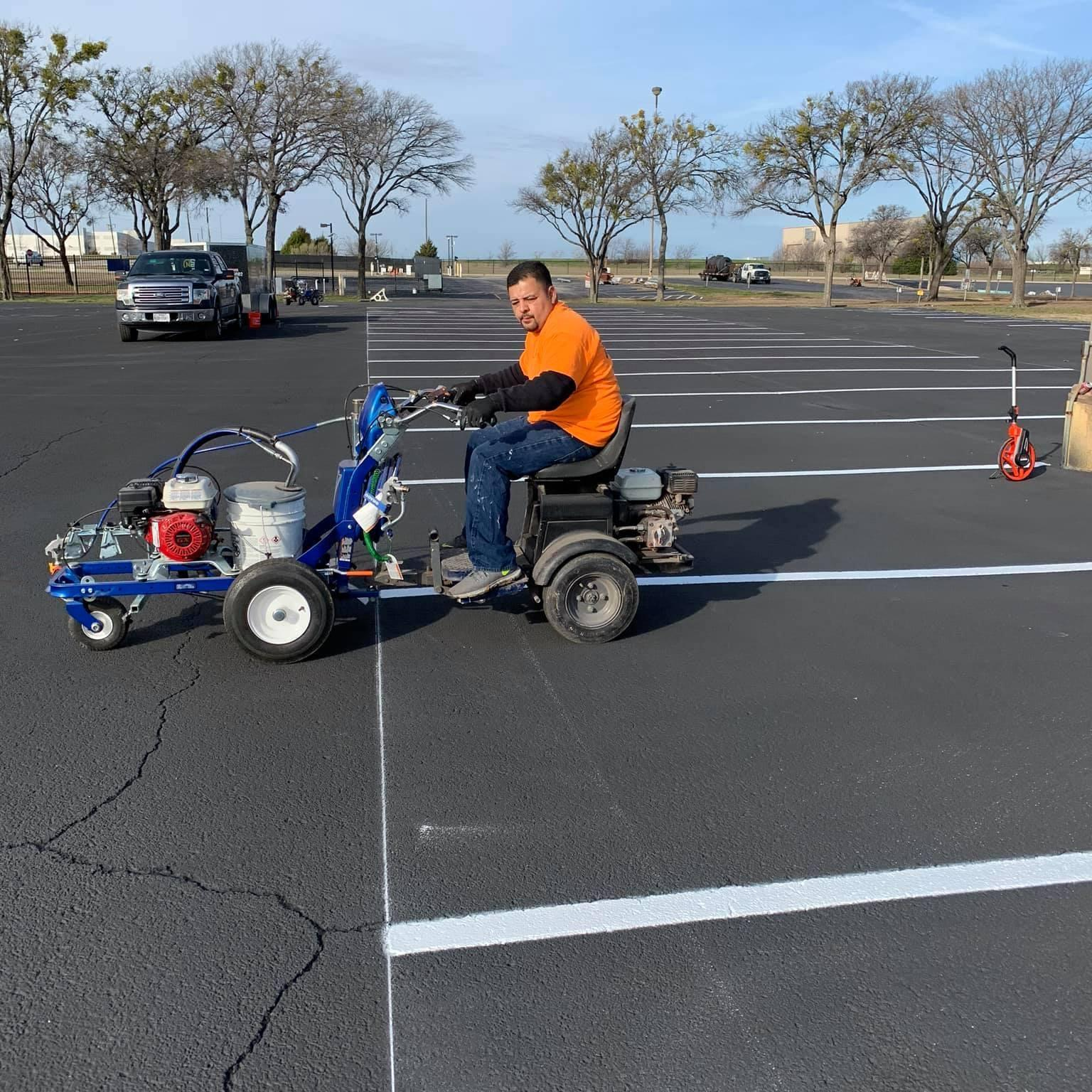 parking lot striping dallas tx commercial best company services near me texas parking lot striping company dash image 1